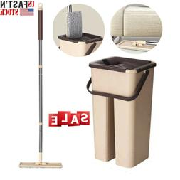 Self Cleaning Drying Wringing Mop Bucket System Flat Floor F
