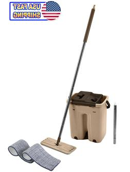Self Cleaning Drying Wringing Mop Bucket System Flat Floor