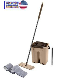 self cleaning drying wringing mop bucket system