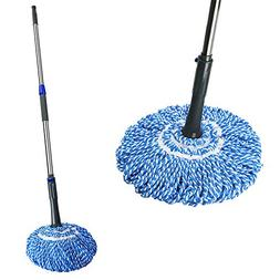 Self- Wringing Twist Mop with Stainless Steel Handle Retract