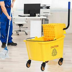 Side Press Wringer Mop 35 QT  Bucket Wringer Combo