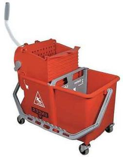 TableTop King Unger COMSR 4 Gallon Red Mop Bucket with Side-