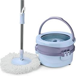 Spin Bucket Mop System, Aicehome 2 in 1 Mop Bucket for Floor
