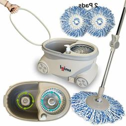 Uniel Spin Mop And Bucket Microfiber Mop Easy To Move 360 Fl
