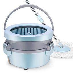 Spin Mop Bucket, YAMTION EasyWring Mop with Bucket System fo