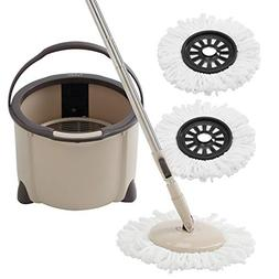Eyliden Spin Mop & Bucket Floor Cleaning System with Extende