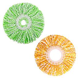 LEMNUY Spin Mop Head Replacement, Set of 2 Microfiber Mops R