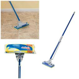 Quickie Sponge Mop Blue Automatic Wringing Squeezing Hard Fl