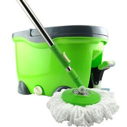 Stainless Steel 360º Rolling Spin Mop with 2 Microfiber Mop