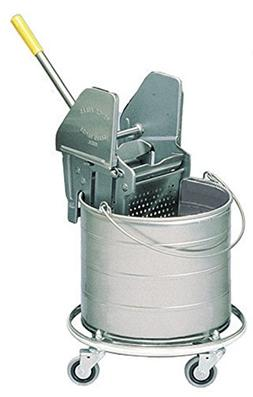 Royce Rolls Stainless Steel 6-Gallon Round Mop Bucket and 16