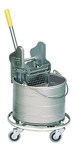 Royce Rolls Stainless Steel 4-Gallon Round Mop Bucket and 12