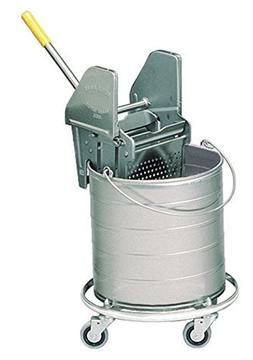 Royce Rolls Stainless Steel 8-Gallon Round Mop Bucket and 24