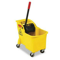 Rubbermaid Commercial Tandem 31-Quart Bucket/Wringer Combo,