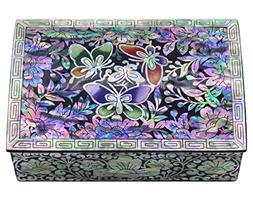 MADDesign Jewelry Trinket Box Mother of Pearl Inlay Lacquere