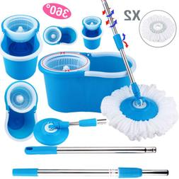 Upgraded Deluxe 360 Spin Mop & Bucket Set household Floor Mo