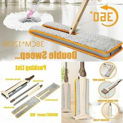 Useful Double-Side Flat Mop Hands-Free Washable Mop Wet Home