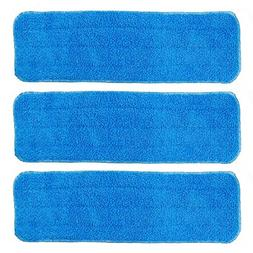 BettaWell 18 Inch Velcro Flat Microfiber Mop Pad Refills for