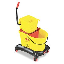 Rubbermaid Commercial WaveBrake Dual Water Mop Bucket and Si