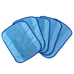 5-pack Wet Microfiber Mopping Cloths Washable&Reusable Mop P