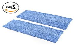 "18"" Premium Microfiber Wet Mop Pad - 2 Pack 