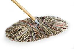 Wool Dry Mop - Big Wooly With Wooden Handle